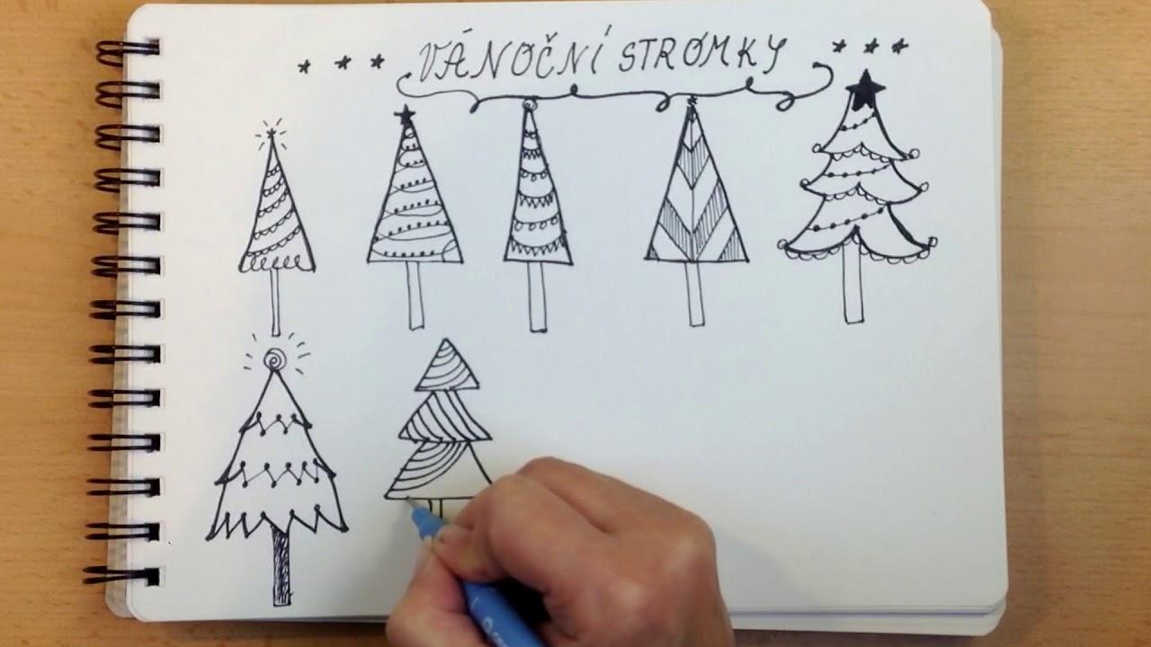 Jak Nakreslit Vanocni Stromecek Skecnouting Youtube