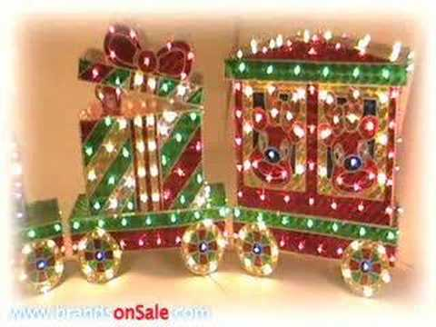 outdoor christmas train decoration - Holographic Christmas Decorations