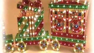 Outdoor Christmas Train Decoration