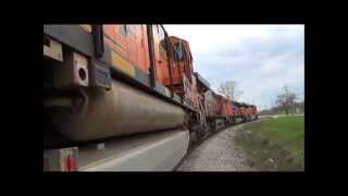 BNSF tour with three SD70ACe