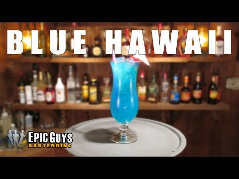 How to make a Blue Hawaii Cocktail | Epic Guys Bartending