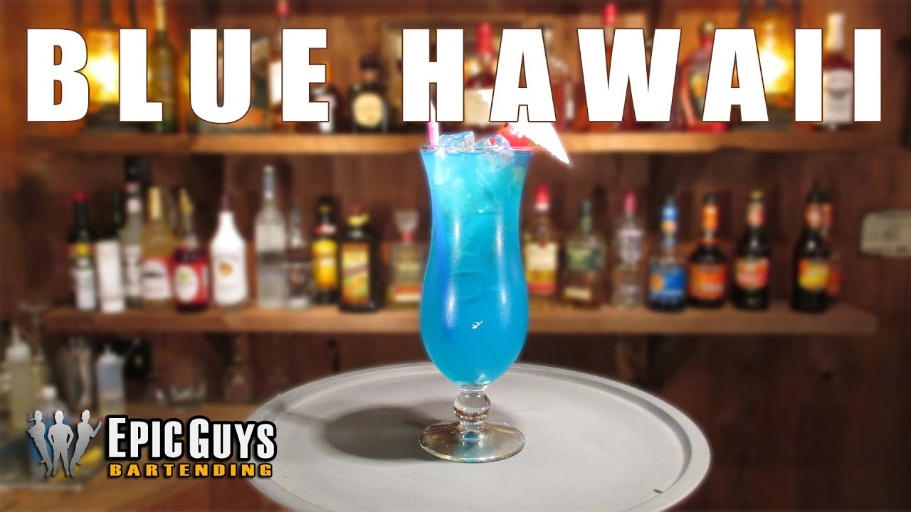 How To Make A Blue Hawaii Cocktail Epic Guys Bartending Youtube