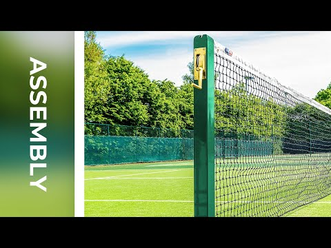 How To: Install Vermont Square Tennis Posts | Net World Sports