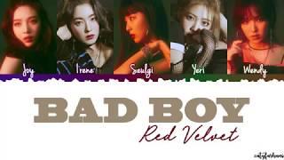 Red Velvet (레드벨벳) - Bad Boy Lyrics [Color Coded_Han_Rom_Eng]