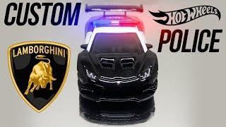 Custom Hot Wheels Huracan Super Trofeo Police Car