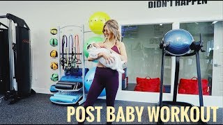 POST BABY WORKOUT + ACTIVEWEAR HAUL | Paige Danielle