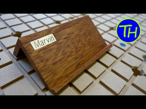 How to make a Design Mobile Phone Holder with mahogany/Mahagoni wood [DIY]