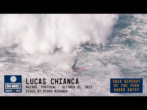 Lucas Chianca at Nazaré  - 2018 Wiepout of the Year Award Entry - WSL Big Wave Awards