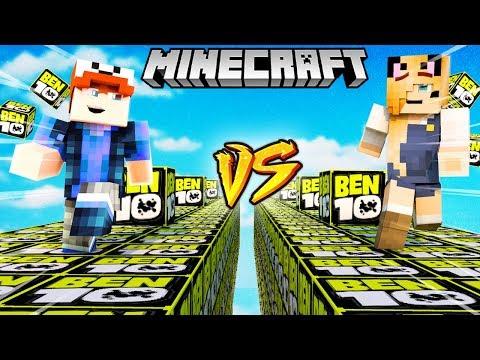 SZALONY WYŚCIG! - BEN 10 LUCKY BLOCKI MINECRAFT (Ben 10 Lucky Block Race) | Vito vs Bella