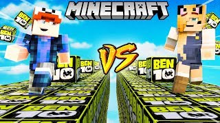 SZALONY WYŚCIG! - BEN 10 LUCKY BLOCKI MINECRAFT (Ben 10 Lucky Block Race) | Vito vs Bella