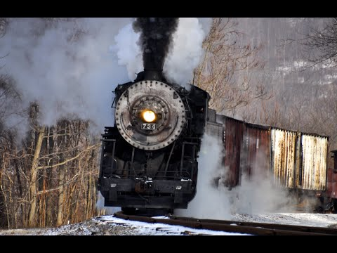 Steam Freight Train Western Maryland 734