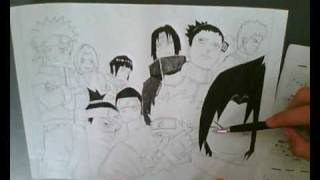 Drawing Konoha team ||MiNuSx||