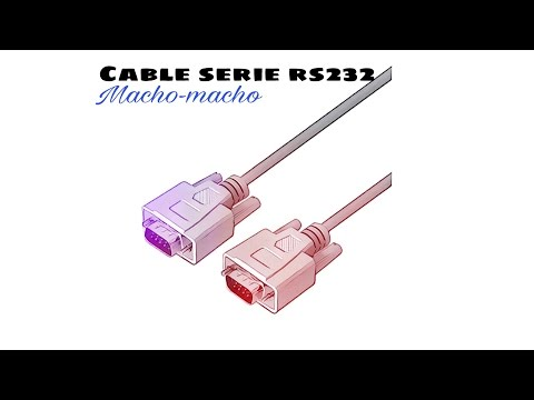 Video de Cable serie RS232 DB9 macho - DB9 macho 1.8 M Beige