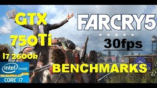 Far Cry 5 GTX 750Ti 30 fps Locked Gameplay Benchmarks