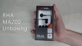 RHA MA200 unboxing