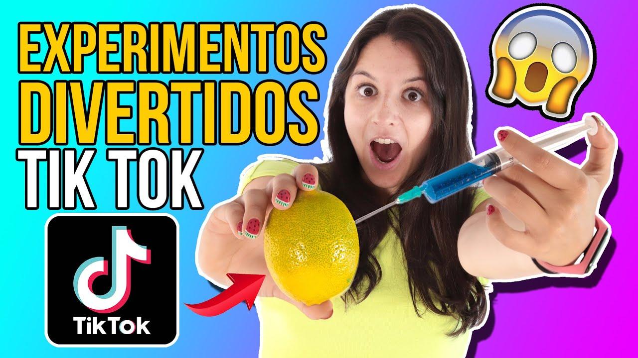 PONEMOS A PRUEBA 4 EXPERIMENTOS DIVERTIDOS Y ABSURDOS DE TIK TOK - TikTok Experimentos