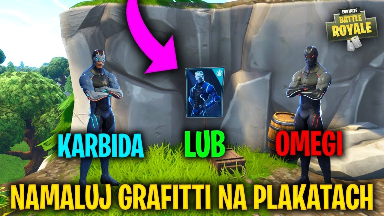 Spray Over Different Carbide Or Omega Posters Fortnite Battle Royale