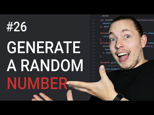 26: How To Create A Random Number Using JavaScript | Create A Random Number | JavaScript Tutorial