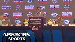 Pacquiao vs. Thurman | Final Press Conference | ABS-CBN Sports Exclusive