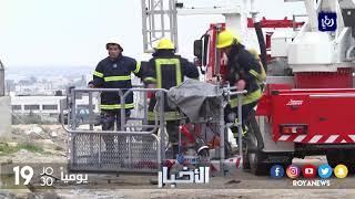 حريق في مستودع لمصنع شيبس قرب جسر أبو علندا - (29-1-2018)