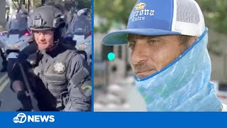 Man who helped injured San Jose police during George Floyd protest later shot with rubber bullet