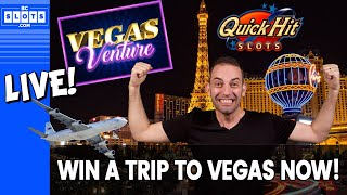 🔴 LIVE Tournament ✈️ WIN 1 of 31 Trips for 2 to Las Vegas! 🎰 Quick Hit + BCSlots #AD