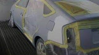 Покраска авто в серебристый металлик Toyota Prius(процесс покраски в серебро., 2013-03-23T19:50:08.000Z)