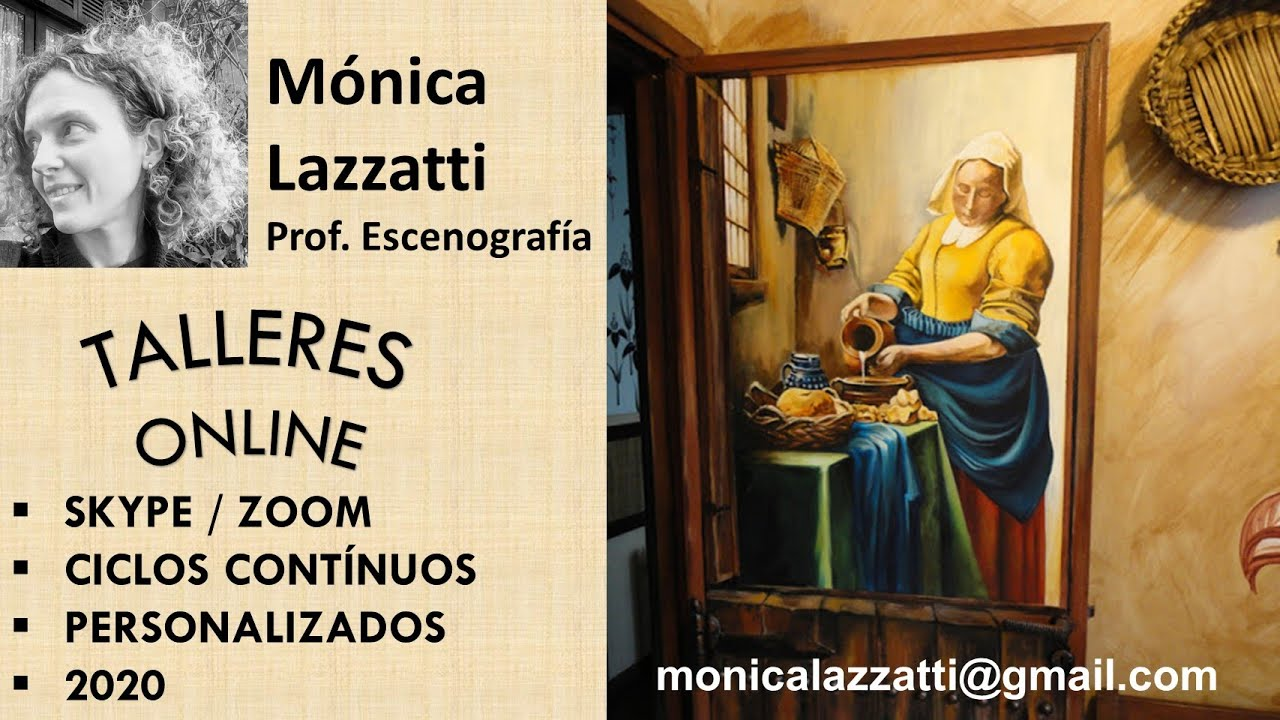 M nica lazzatti pintura art stica sobre puerta de cocina - Pinturas para cocina ...