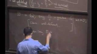 Real Analysis, Lecture 2: Properties of Q