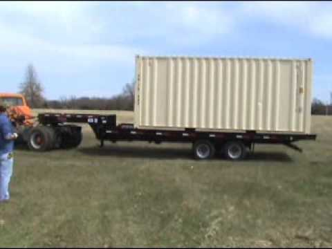 Hotshot Container Delivery Trailer Youtube