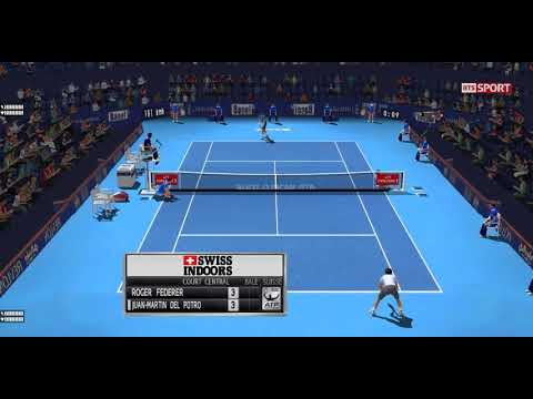 [ HD ] Roger Federer vs Juan Martin del Potro Full Match | Basel Final 2017 - 3D Animation