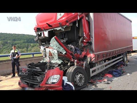 04.06.2019 - VN24 - (Teil2) - LKW Bergung des Unfall Wracks auf A1 bei Schwerte