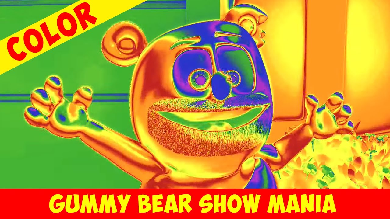 """Neon Rainbow """"Dancing on the Ceiling"""" 🌈🐻🎶 - Crazy Colors - Gummy Bear Show MANIA"""