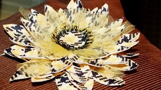 Цветы из ткани. Fabric flowers. Как сделать брошь из обрезков ткани! Мастер класс!