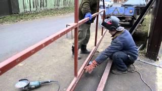 видео ремонт ворот