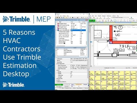 5 Reasons HVAC Contractors Use Trimble Estimation Desktop HVAC