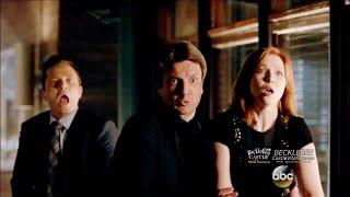 "Castle 8x01 ""XY""  Gun Fight at the The Precinct Season 8 Episode 1"