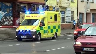 Czech ambulance & police cruiser responding at the same time in Prague [3.2014]