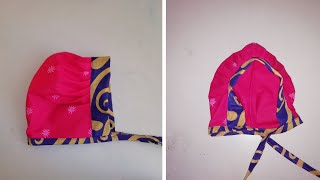 Baby cap for new born baby | cutting and stitching | very easy method | Maheera DIY