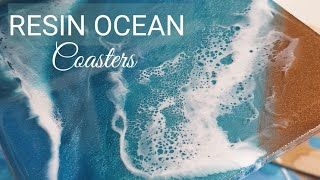 Ocean resin coasters EASY POUR *giveaway closed*