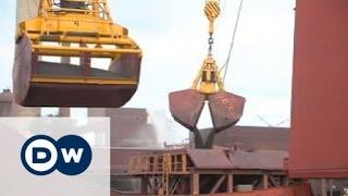 Falling price of iron ore threatens mining companies   Business