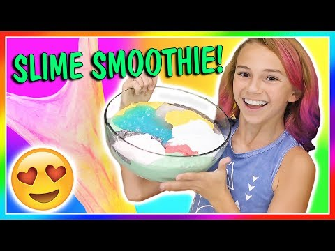 SLIME SMOOTHIE | MIXING ALL OF MY SLIMES! | We Are The Davises