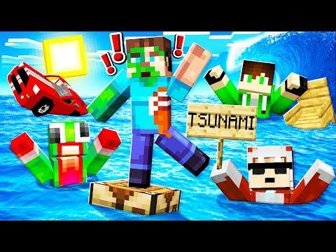 SURVIVE The TSUNAMI In MINECRAFT!