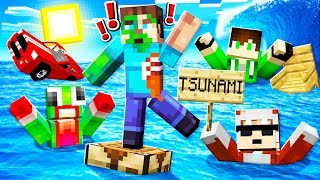 SURVIVE The TSUNAMI In MINECRAFT!