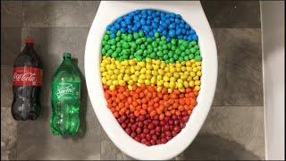 Will it Flush? - Coca Cola, Fanta, Sprite, Rainbow M&M's Candy