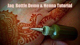Jaq Bottle Demo & Henna Design Tutorial | freehandmehndi