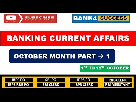 Banking & Financial Current Affairs October Month Part -1