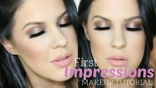 FIRST IMPRESSIONS MAKEUP TUTORIAL + CHAT | KAT VON D, MAKEUP GEEK, MUFE, NARS, BECCA + MORE