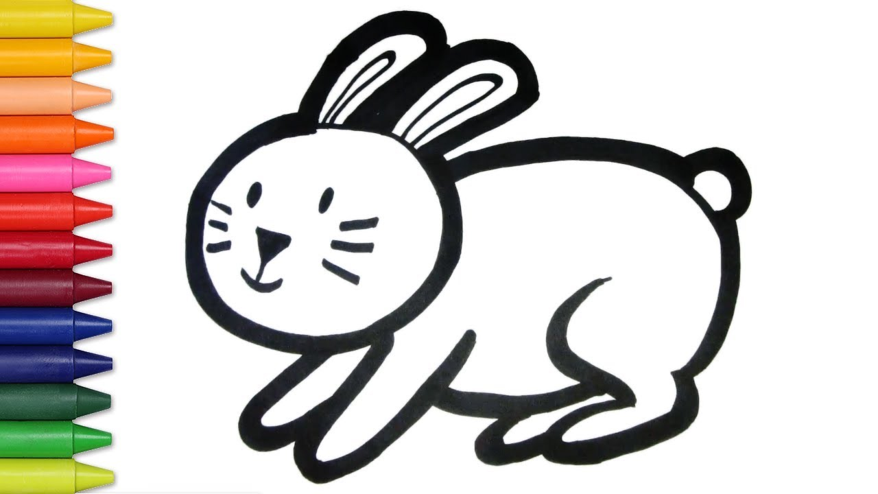 Rabbit Carrot Coloring And Drawing Learn Colors For Kids Jelly