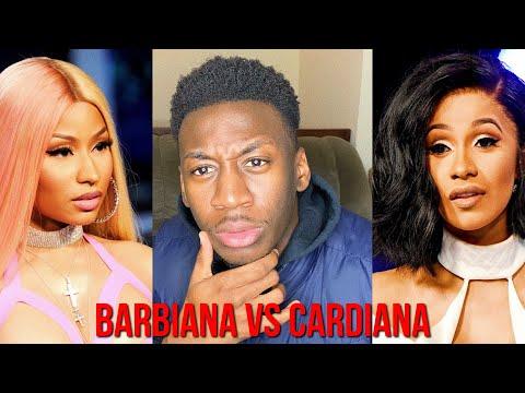 BARBIANA VS CARDIANA (THOTIANA REMIXES) Nicki Minaj vs. Cardi B - Reaction